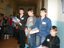 Награждение, слева направо: Илья Дмитриевич, Семен Владимирович и Никита Михайлович