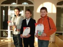 Награждение, слева направо: Солдатов Максим Олегович,  Жмаков Семён Владимирович, Бушмакин Никита Михайлович
