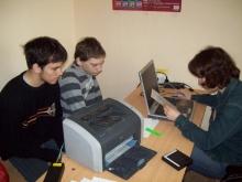Регистрация участников, Голощапов Александр Васильевич (слева) и Жмаков Семен Владимирович