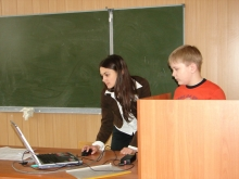 На секции, Харченко Диниил Вячеславович (справа) и выступление