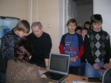 Регистрация участников, Горбунов Никита Викторович (в центре)