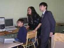 На секции, Жидков Илья Дмитриевич (справа) и настройка показывания