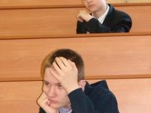 На секции, Жидков Илья Дмитриевич (сверху) и скучное