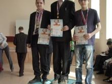 Награждение, слева направо,  Попов Евгений Юрьевич, Жидков Илья Дмитриевич,  Камионко Владимир Александрович
