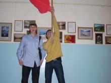 Волохов Владлен Евгеньевич и знамя