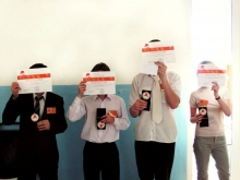 слева направо, Попов Евгений Юрьевич, Жмаков Семён Владимирович, Волохов Владлен Евгеньевич, Кондюрина Александра Алексеевна