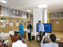 Евгений Юрьевич (в центре) и...ещё и 2 место